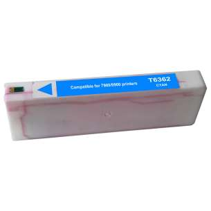 Remanufactured Epson T636200 inkjet cartridge - cyan