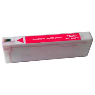 Remanufactured Epson T636300 inkjet cartridge - vivid magenta