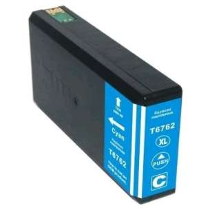 Remanufactured Epson T676XL220 (676XL ink) inkjet cartridge - high capacity pigmented cyan