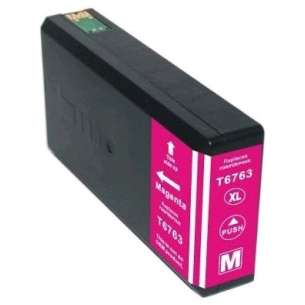 Remanufactured Epson T676XL320 (676XL ink) inkjet cartridge - high capacity pigmented magenta