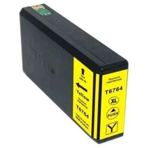 Remanufactured Epson T676XL420 (676XL ink) inkjet cartridge - high capacity pigmented yellow