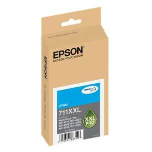 Original Epson T711XXL220 (711XXL ink) inkjet cartridge - extra high capacity cyan
