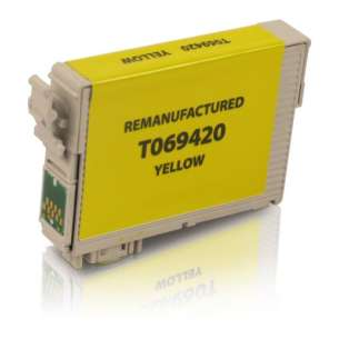 Remanufactured Epson T069420 (69 ink) inkjet cartridge - yellow