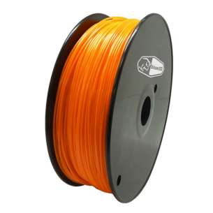3D Filament (Bison3D brand) for 3D Printing, 1.75mm, 1kg/roll, Orange (Flexible)