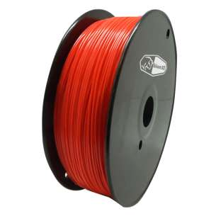 3D Filament (Bison3D brand) for 3D Printing, 1.75mm, 1kg/roll, Red (Flexible)