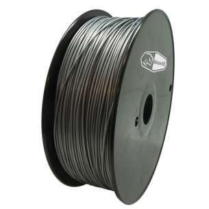 3D Filament (Bison3D brand) for 3D Printing, 1.75mm, 1kg/roll, Silver (Flexible)