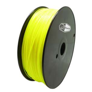 3D Filament (Bison3D brand) for 3D Printing, 1.75mm, 1kg/roll, Yellow (Flexible)