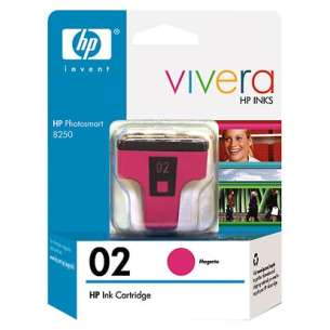 Original Hewlett Packard (HP) C8772WN (HP 02 ink) inkjet cartridge - magenta