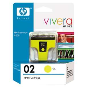 Original Hewlett Packard (HP) C8773WN (HP 02 ink) inkjet cartridge - yellow