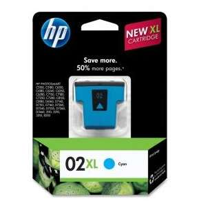 Original Hewlett Packard (HP) C8730WN (HP 02XL ink) inkjet cartridge - cyan
