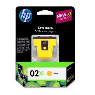 Original Hewlett Packard (HP) C8732WN (HP 02XL ink) inkjet cartridge - yellow