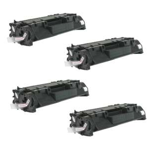 Compatible Atlantic Inkjet Canada HP CE505A (05A) toner cartridges - jumbo capacity - 4-pack