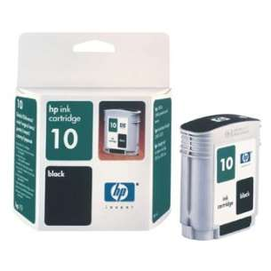 Original Hewlett Packard (HP) C4844A (HP 10 ink) inkjet cartridge - black cartridge