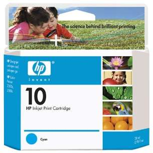 Original Hewlett Packard (HP) C4841A (HP 10 ink) inkjet cartridge - cyan