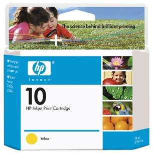 Original Hewlett Packard (HP) C4842A (HP 10 ink) inkjet cartridge - yellow