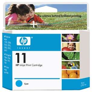 Original Hewlett Packard (HP) C4836AN (HP 11 ink) inkjet cartridge - cyan