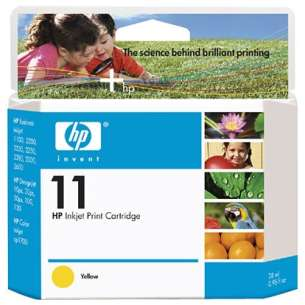 Original Hewlett Packard (HP) C4838AN (HP 11 ink) inkjet cartridge - yellow