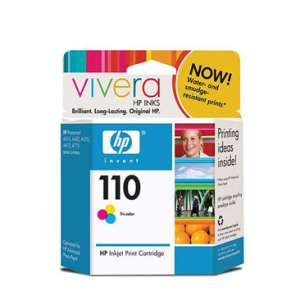 Original Hewlett Packard (HP) CB304AN (HP 110 ink) inkjet cartridge - color cartridge