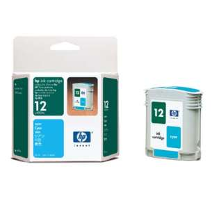 Original Hewlett Packard (HP) C4804A (HP 12 ink) inkjet cartridge - cyan