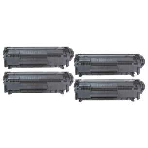 Compatible for HP Q2612X (12X) toner cartridges - 4-pack