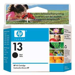 Original Hewlett Packard (HP) C4814A (HP 13 ink) inkjet cartridge - black cartridge