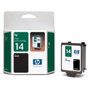 Original Hewlett Packard (HP) C5011DN (HP 14 ink) inkjet cartridge - black cartridge