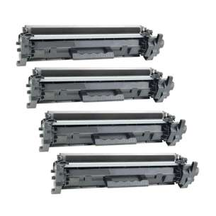 Compatible for HP CF217A (17A) toner cartridges - 4-pack