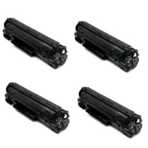 Compatible Atlantic Inkjet Canada HP CF217A (17A) toner cartridges - WITHOUT CHIP - 4-pack