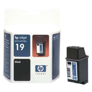 Original Hewlett Packard (HP) C6628AN (HP 19 ink) inkjet cartridge - black cartridge
