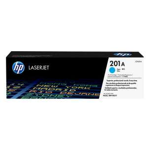 Original Hewlett Packard (HP) CF401A (201A) toner cartridge - cyan