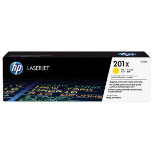 Original Hewlett Packard (HP) CF402X (201X) toner cartridge - high capacity yellow