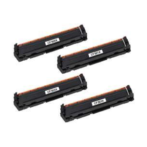 Compatible HP CF500X / CF501X / CF503X / CF502X (202X) toner cartridges - 4-pack