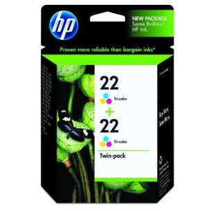 Original Hewlett Packard (HP) CC580FN (HP 22) Multipack - 2 pack