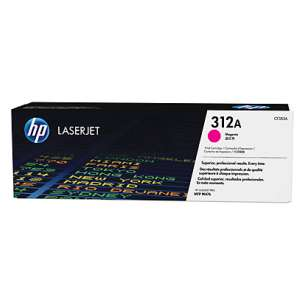 Original Hewlett Packard (HP) CF383A (312A) toner cartridge - magenta