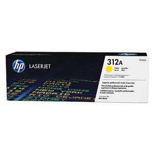 Original Hewlett Packard (HP) CF382A (312A) toner cartridge - yellow