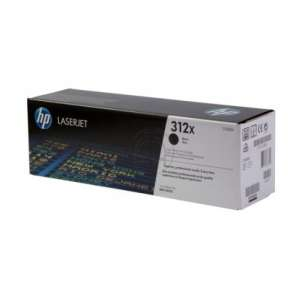 Original Hewlett Packard (HP) CF380X (312X) toner cartridge - black cartridge