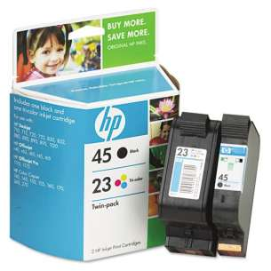 Original Hewlett Packard (HP) C8790FN (HP 45/23) Multipack - 2 pack