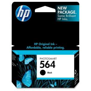 Original Hewlett Packard (HP) CB316WN (HP 564 ink) inkjet cartridge - black cartridge