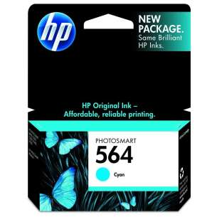 Original Hewlett Packard (HP) CB318WN (HP 564 ink) inkjet cartridge - cyan