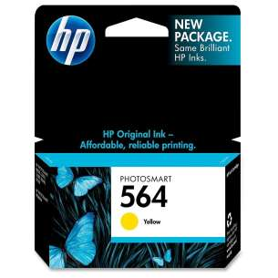 Original Hewlett Packard (HP) CB320WN (HP 564 ink) inkjet cartridge - yellow