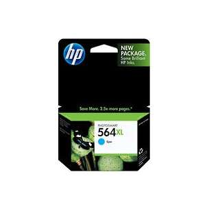Original Hewlett Packard (HP) CB323WN (HP 564XL ink) inkjet cartridge - high capacity cyan