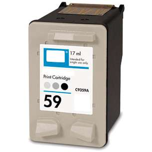 Remanufactured HP C9359AN (HP 59 ink) inkjet cartridge - photo gray