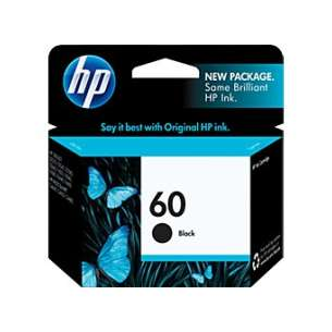 Original Hewlett Packard (HP) CC640WN (HP 60 ink) inkjet cartridge - black cartridge