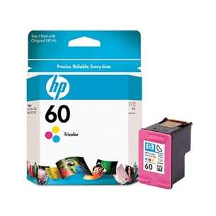 Original Hewlett Packard (HP) CC643WN (HP 60 ink) inkjet cartridge - color cartridge