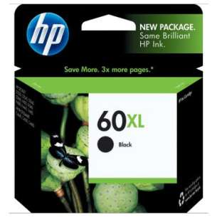 Original Hewlett Packard (HP) CC641WN (HP 60XL ink) inkjet cartridge - high capacity black