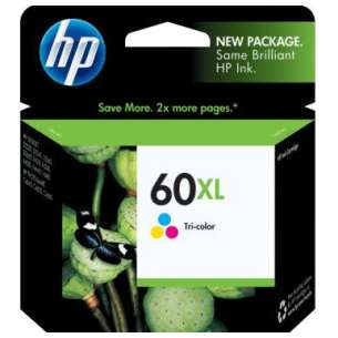 Original Hewlett Packard (HP) CC644WN (HP 60XL ink) inkjet cartridge - high capacity color