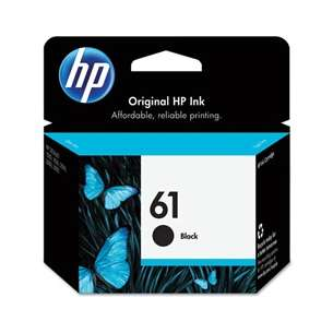 Original Hewlett Packard (HP) CH561WN (HP 61 ink) inkjet cartridge - black cartridge