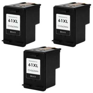 Remanufactured inkjet cartridges Multipack for HP 61XL Black - 3 pack