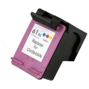 Remanufactured HP CH564WN (HP 61XL ink) inkjet cartridge - high capacity color