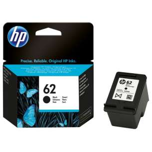 Original Hewlett Packard (HP) C2P04AN (HP 62 ink) inkjet cartridge - black cartridge